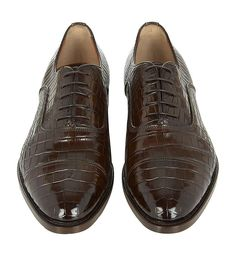 Santoni Croc Oxford Shoe