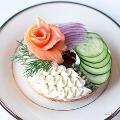 """340 Likes, 59 Comments - Lifestyle Blogger🌸Sarah Mock (@sarahbmock) on Instagram: """"I have Easter Brunch on the brain! Who is a fan of bagels, cream cheese and lox? I feel so fancy…"""""""