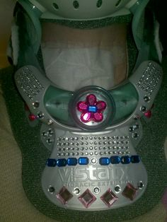 Love the neck brace bling I created. Just because you have a big clunky neck brace on doesn't mean you can't make it look cute!