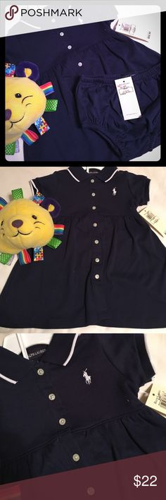 NWT Ralph Lauren Baby Girls 2-Pc Dress & Bloomers Please feel free to ask questions...🏇 Ralph Lauren Dresses