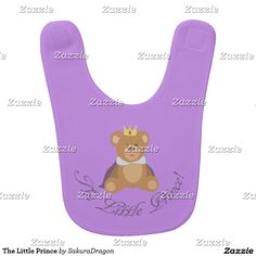 The Little Prince Bib #teddy #bear #baby #prince #boy