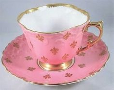 Bone China Pink Tea Cup/Saucer.
