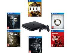 PlayStation 4 Slim Bethesda XMAS-bundel met 6 games voor 322 euro