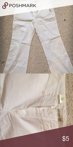 White staple pants - never worn! White cotton pants. Great for summer double button-nwt Old Navy Pants Trousers
