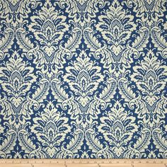 Screen printed on cotton duck; this versatile, medium weight fabric is perfect for window treatments (draperies, valances, curtains and swags), accent pillows, upholstering furniture, headboards, ottomans and poufs. Colors include ivory and cornflower. This fabric has 45,000 double rubs.