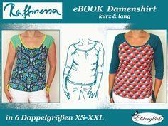 Das Ebook enthält das Schnittmuster für ein DAMEN-Kurzarmshirt und ein Dreiviertelarm-Shirt in den Doppelgrößen XS (32/34) bis XXL (52/54).  In einer bebilderten Anleitung erfährst Du Schritt für...