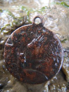 Nicola White's  Greenwich mudlarking find of the day  - lovely little button/pendant with stag & doe. look carefully! pic.twitter.com/iyJXMpkX2h