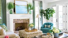 Inviting Coastal Living Rooms - Southern Living - Create a coastal living room with the different colors, decor, and special touches found in these beach houses.