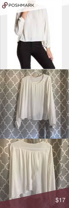 Lush XL Cream or ivory Long sleeves blouse In Great condition, no rips, stains or any other signs of wear, no modeling or trades, Please let me know if you have any questions. Thanks for looking. Have a nice Day. Lush Tops Blouses