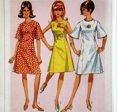 Vintage 60s Mod Dress Pattern Simplicity 6936 by ThePlayfulNeedle