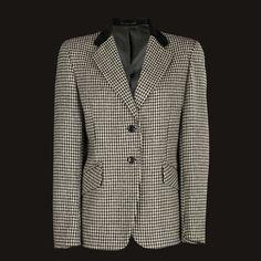 Womens Blazer, Irish Wool, Tweed Jacket, Blazer Jacket, Hacking Jacket, Wool Blazer, Suit Jacket, Wool Jacket - Black & White Houndstooth Tweed Blazer, Tweed Jacket, Blazer Jacket, Blazer Suit, Houndstooth, Corduroy, Irish, Jackets For Women, Wool