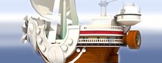 Thousand Sunny Ship - One Piece Paper Model Part 1