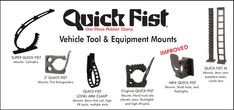 Equipment Mounts, Quick Fist One Piece Rubber Clamp