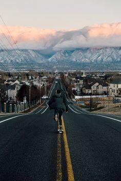 Longboard Discover Our Street. Our Street. Skateboard Photos, Skate Photos, Skateboard Art, South Jordan Utah, Into The Wild, Instagram Prints, Skate Girl, Skate Style, Longboarding