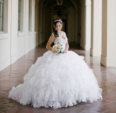 15 Tiffany Blue Quinceanera Dresses you Must Try On! Quincenera Dresses White, White Quince Dresses, Pretty Quinceanera Dresses, Quinceanera Ideas, Sweet 16 Dresses, Sweet Dress, Xv Dresses, Prom Dresses, Dress Picture