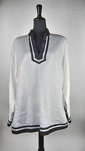 Talbots White and Black Tunic, Women's Size 16W, http://stores.ebay.com/thrifty-approach