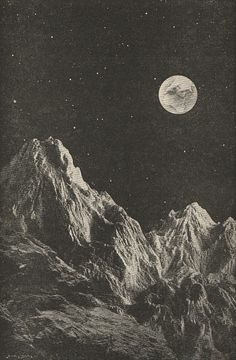 The Earth seen from the Moon; Smith's Illustrated Astronomy, 1858.