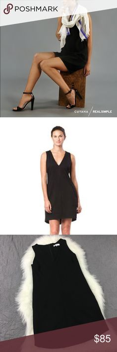 Cuyana X Real Simple Minimalist Black V Neck Dress The perfect little black dress. From the sold out Cuyana X real simple collaboration. V neck, flattering easily dressed up or down. And it even has pockets. Everything out need and want in a black dress. Lightly worn, no rips, tears stains or odors. Pit to pit and length measurements included in the photos. No trades accepted but offers welcome Cuyana Dresses