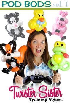 I am so excited to share this new design with you guys!  Introducing POD BODS!  Extrememly versatile balloon animal designs that convert from headbands, bracelets,…