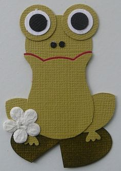 Frog using Stampin Up Owl Punch @Heather Creswell Lambert & @Erica Cerulo Miller | almost didn't recognize the Owl punch