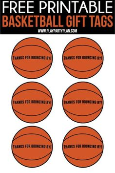 Free printable basketball party favors that aren't just for kids! DIY these cute bags yourself for the perfect sport theme favors! Fun ideas for the basketball tournament! Basketball Party Favors, Basketball Baby Shower, Basketball Decorations, Free Basketball, Basketball Birthday Parties, Basketball Gifts, Summer Gift Baskets, Party Favor Tags, Party Gifts