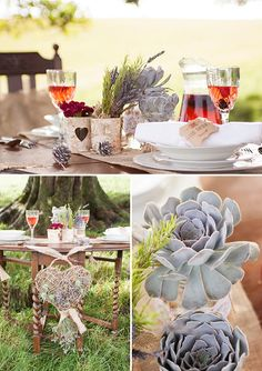 wedding succulents, rustic, image by Billingham Photography