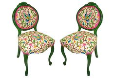 French Crewel Chairs // One Kings Lane
