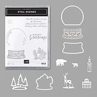 I used the Snow Globe Dies from the Still Scenes Bundle for this card. Instead of making a snow globe I wanted to make a card that is e. Baby's First Christmas Card, Xmas, Christmas 2019, Christmas Ideas, Stampin Up, Globe Ornament, Embossing Machine, Scrapbooking, Shaker Cards