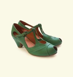 Green Liebling Shoes ~ I want you a whole bunch.
