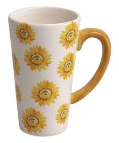 Look what I found on #zulily! Sunflower Mug - Set of Four #zulilyfinds