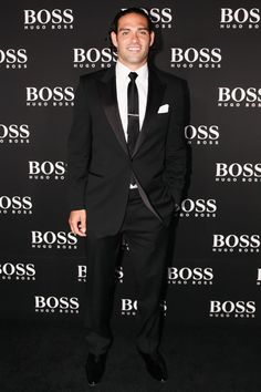 The NY Jets QB #MarkSanchez at the opening event of the #boss store at Columbus Circle #HBNYC #hugoboss