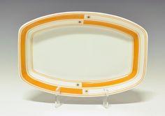 Serving tray by Nora Gulbrandsen for Porsgrund Porselen. Production 1930