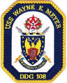 DDG-108 USS WAYNE E. MEYER GUIDED MISSILE DESTROYER SHIP CREST PATCH