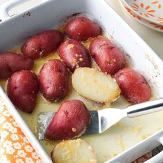 Parmesan Baked Potatoes Recipe -It always amazed me that this simple recipe could make potatoes taste so good. Mom liked to make them for Easter because they were more special than ordinary baked potatoes. —Ruth Seitz, Columbus Junction, Iowa