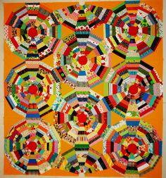 an awesome string quilt from basketfullofscraps.blogspot.com
