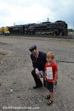 Advice from the conductor: Union Pacific #844 rolls through Grand Island, Nebraska | Flickr - Photo Sharing!