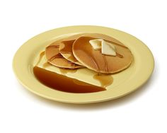 Pancake plates with a syrup section.