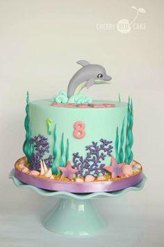 Mermaid under the sea fish Birthday loose cake decorations, Dolphin
