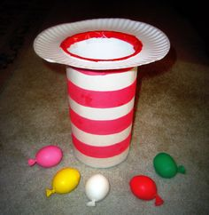 Cat in the Hat toss! A great way for a transition if working with younger children. Definitely going to try this!