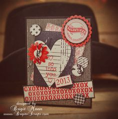 Unity Valentine Card, Love the vintage look to this photo!
