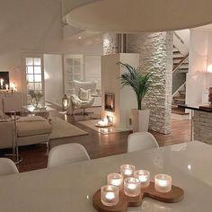Home Living Room, Interior Design Living Room, Living Room Designs, Living Room Decor, Interior Decorating, Interior Livingroom, Dining Room, Ikea Interior, Coastal Interior
