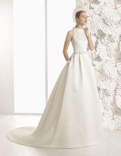 Vestidos de novia cuello cisne 2017: Déjate seducir por su elegancia en tu gran día Image: 2