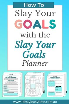 The perfect goal setting tool for adults that takes you from being stuck to crushing your goals. Slay your goal planner is more than a planner. The planner has multiple worksheets, is printable, includes inspiring quotes and guides you on how to choose your goal and mini goals. Start planning your 2020 goals. Goals Planner, Planner Ideas, Business Goals, Business Tips, Online Business, Setting Goals, Goal Settings, Goal Planning, Achieving Goals