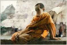 Guan Weixing is a Chinese painter, who was born in 1949 and was graduated from Luksun Fine Arts Akademy. He is very good at painting portraits and landscapes. Painting People, Figure Painting, Watercolor Portraits, Watercolor Paintings, Watercolours, Tibetan Art, Art Academy, Art Techniques, Modern Art