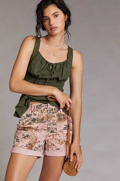 Pilcro The Wanderer Shorts | Anthropologie Boho Outfits, New Outfits, Winter Outfits, Cute Shorts, Boho Shorts, Olive Shorts, 50 Fashion, Anthropologie, Short Dresses