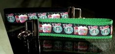 This listing is for a 6 inch long key fob made of high quality grosgrain ribbon and heavy-duty cotton webbing.  It has a nickel fob tip and split ring.  The ribbon is black with the Starbucks logo and