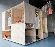 Pop Up Shop Design / Retail Design / Semi Permanent Retail Fixtures / VM / Retail Display / zalando pop-up store Design Shop, Tor Design, Deco Design, Stand Design, Design Art, Design Ideas, Cube Furniture, Furniture Design, Tienda Pop-up