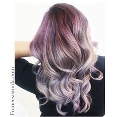 @francescanola_hairartist created this STUNNING color with #KenraColor. She pre-lightened with No-Ammonia Lightener. She toned with #KenraColorCreative Violet + White on the roots and mid-shaft. Mids to ends were 8SM + 10vol. #MetallicObsession #Kenra