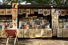 Les Bouquinistes, in the 1st arondissement. Booksellers have been selling their wares along the Seine for nearly 500 years.