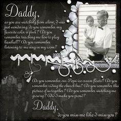 Daddy scrabook layout